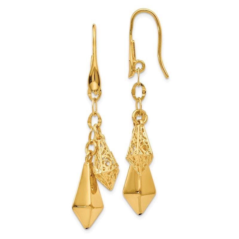 Leslie's Leslie's 14k Polished Filigree Dangle Earrings