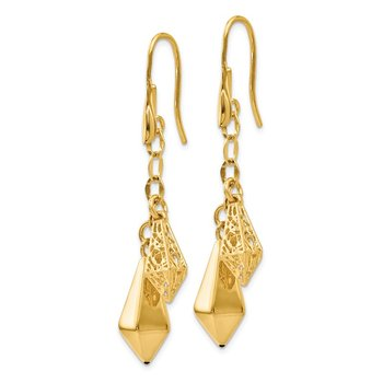 Leslie's 14k Polished Filigree Dangle Earrings