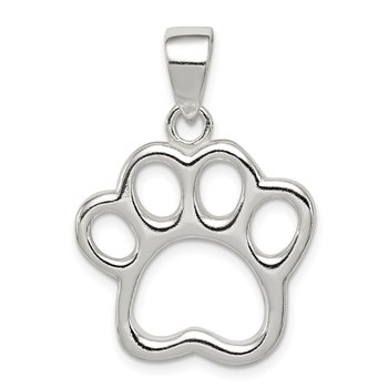 Sterling Silver Paw Pendant