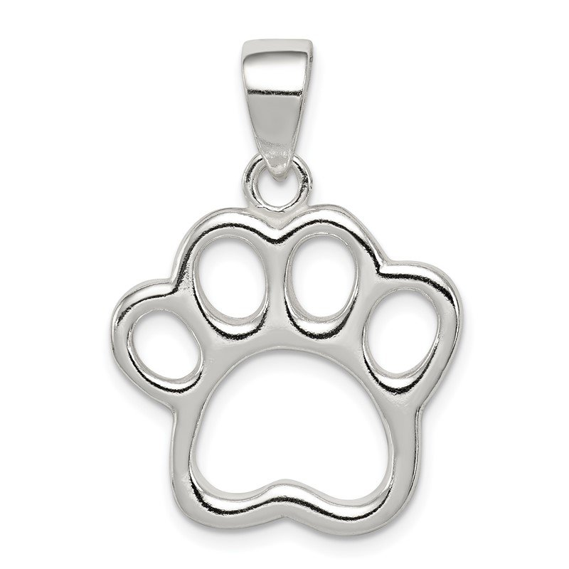 Quality Gold Sterling Silver Paw Pendant