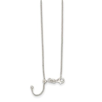 Sterling Silver Polished Adjustable Necklace