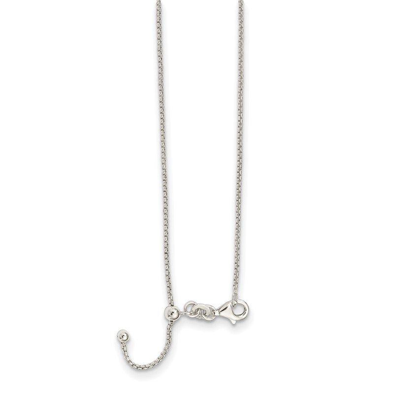 Quality Gold Sterling Silver Polished Adjustable Necklace