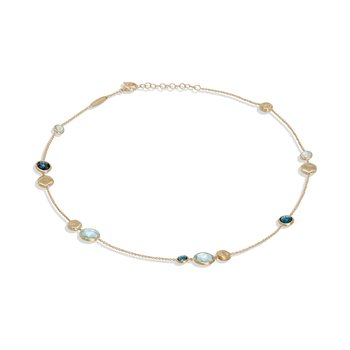 Jaipur Mixed Blue Topaz Necklace