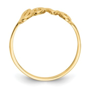 14k Polished Love Ring