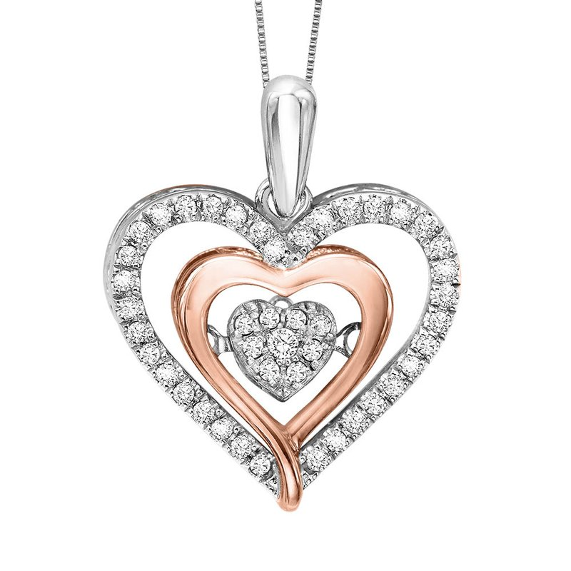 Arizona diamond center rhythm of love silver 10k rose gold rhythm of love silver 10k rose gold diamond rhythm of love pendant 15 aloadofball Images