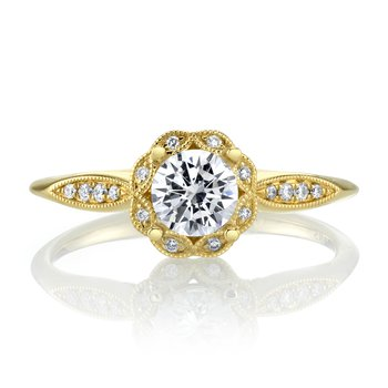 MARS 27150 Diamond Engagement Ring, 0.08 Ctw.