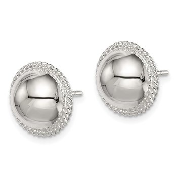 Sterling Silver 12mm Button Earrings