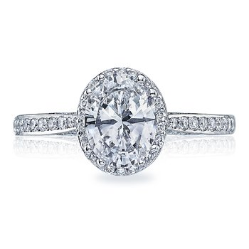 Dantela Oval White Gold Engagement Ring
