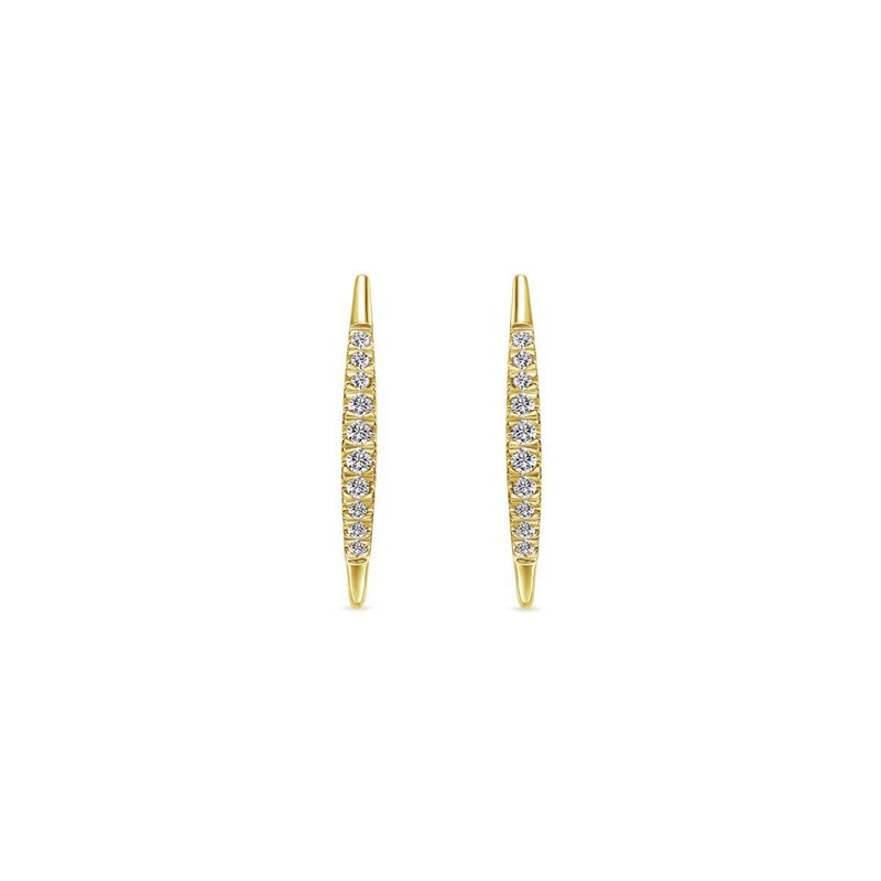Gabriel Fashion Bestsellers 14K Yellow Gold Pavé Diamond Ear Climber Earrings