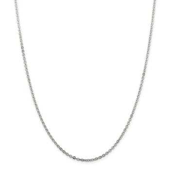 Sterling Silver 2mm Flat Link Cable Chain