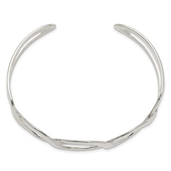 Sterling Silver Circle Design Cuff Bangle