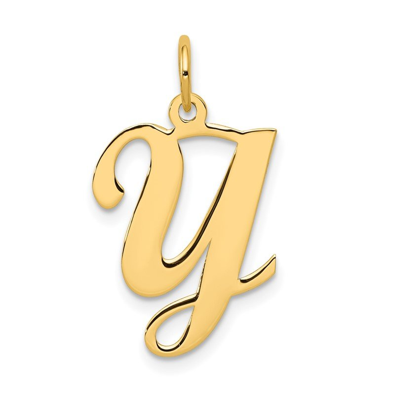 Quality Gold 14KY Script Letter Y Initial Charm