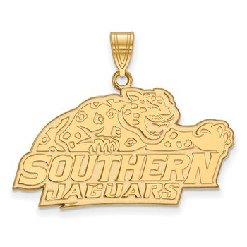 Gold-Plated Sterling Silver Southern University NCAA Pendant