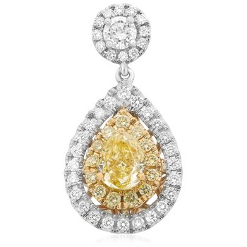 Pear-shaped Halo Diamond Earrings