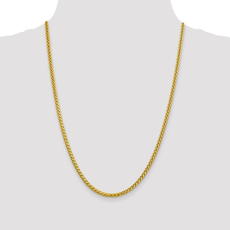 Quality Gold 14k 3.1mm Semi-solid D/C Wheat Chain