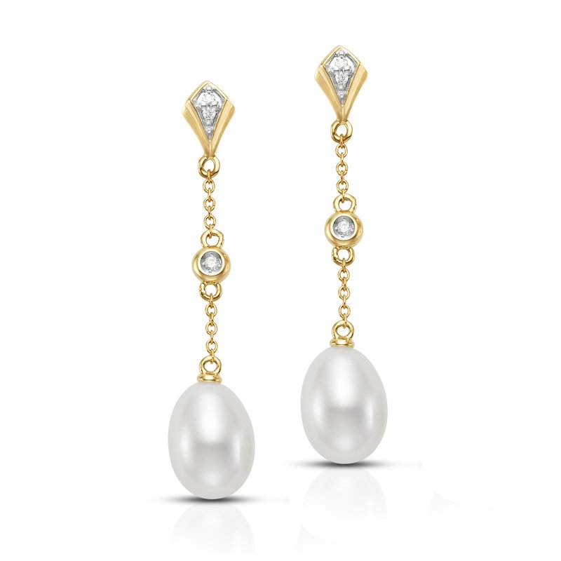 Mastoloni Pearls Diamond Drop Earrings