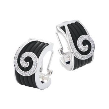 Swirl Rubber Earrings