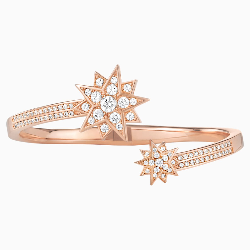 Swarovski Penélope Cruz Moonsun Cuff, Limited Edition, White, Rose-gold tone plated
