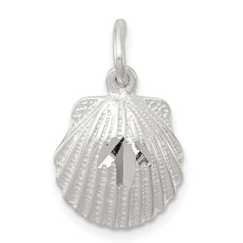 Sterling Silver D/C Shell Charm