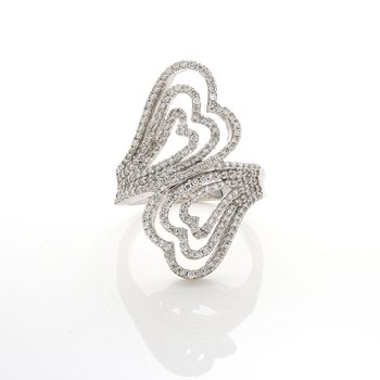 CONCENTRIC HEARTS DIAMOND RING