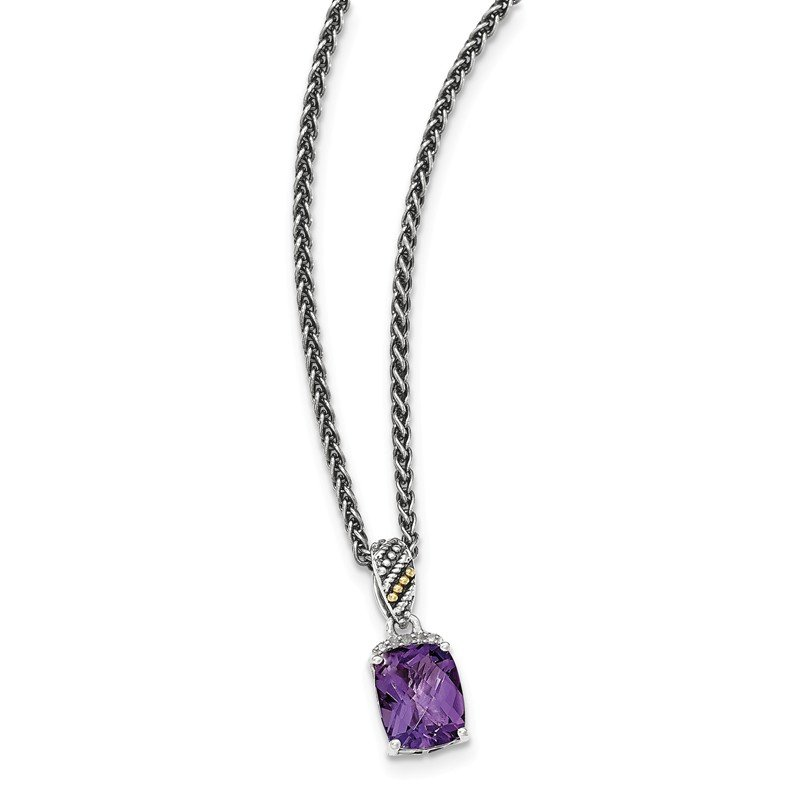 Shey Couture Sterling Silver w/14k Diamond and Amethyst Necklace
