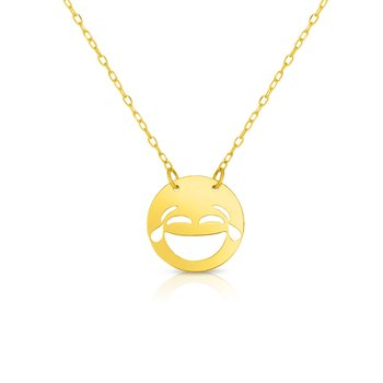 14K Gold LOL Roymoji Necklace