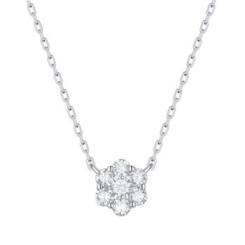 Smiling Rocks 0.27Ct G-H/VS1 Lab Grown Diamond Cluster Necklace