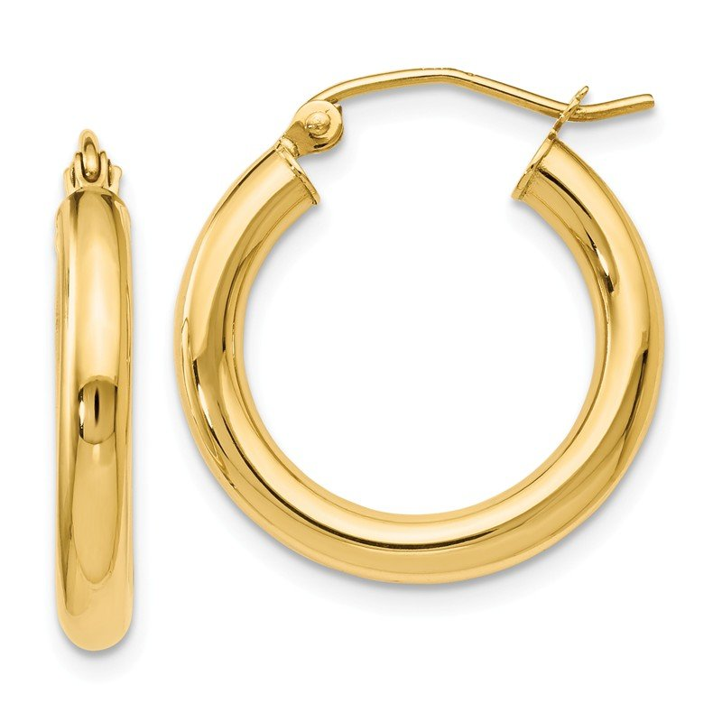 Leslie's Leslie's 14k Polished 3mm Hoop Earrings