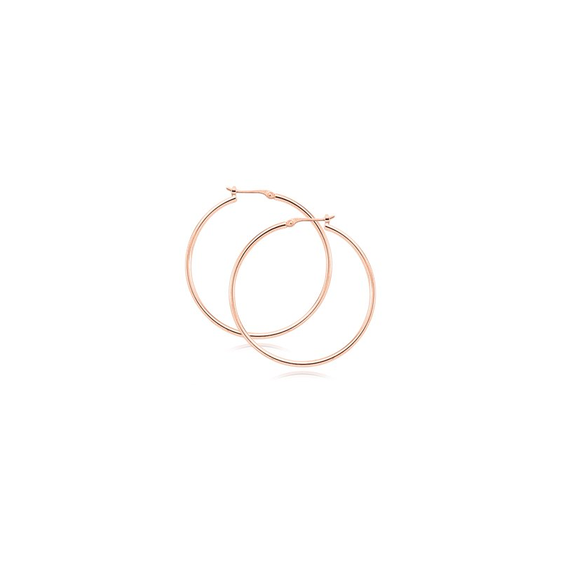 Carla 14kt Rose Thin Tube Hoop Earrings