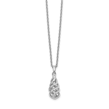 SS White Ice .01ct Diamond Spiral Pendant Necklace
