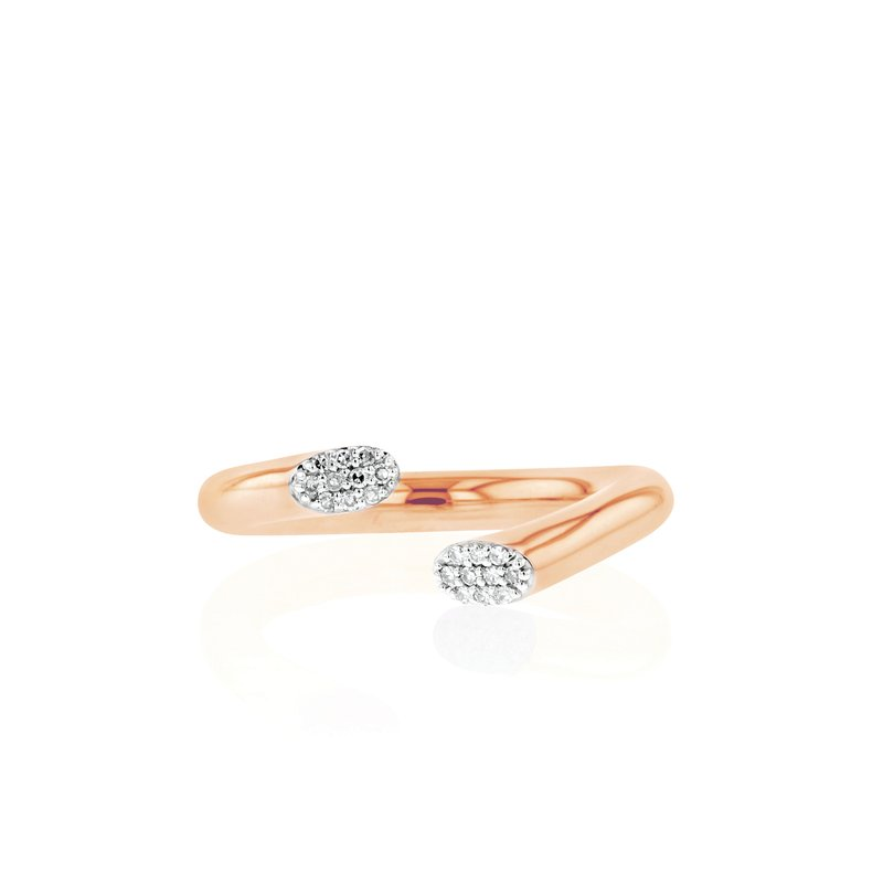 Phillips House Rose gold diamond Affair tipped swivel ring