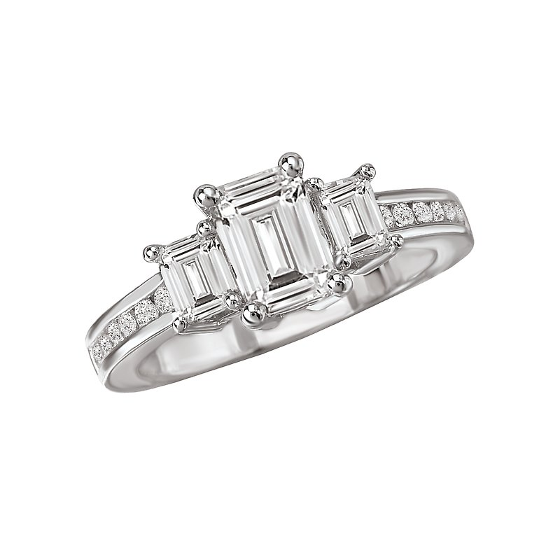LaVie 3-Stone Semi-Mount Ring