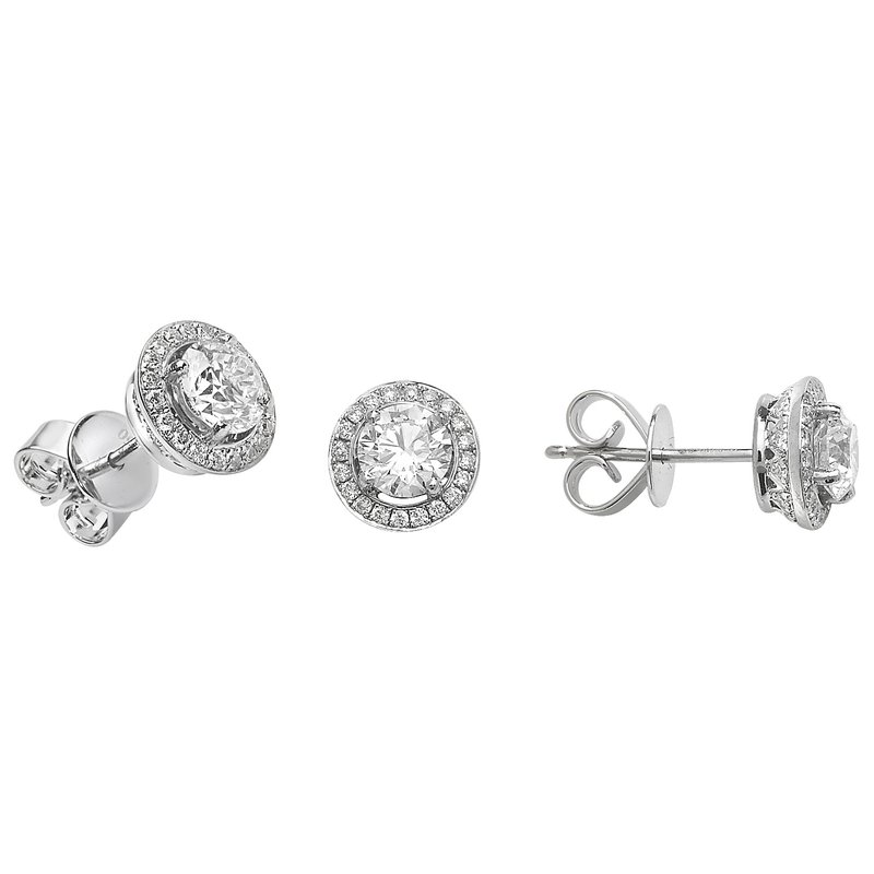 Treasure Diamond Halo Earrings
