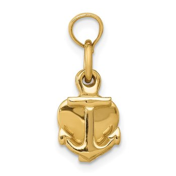14K 3D Faith, Hope and Charity Charm