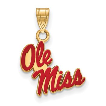 Gold-Plated Sterling Silver University of Mississippi NCAA Pendant