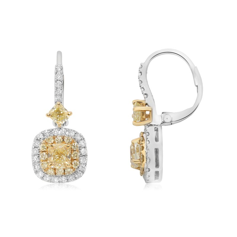 Roman & Jules Yellow Diamond Drop Earrings