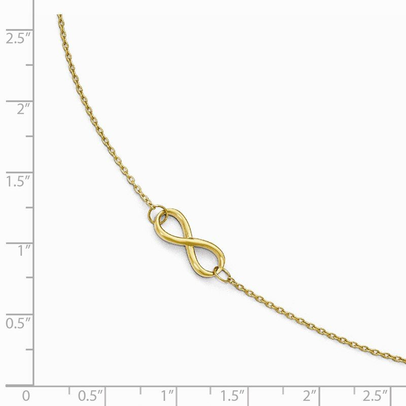 Leslie's Leslie's 14K Polished Infinity with 1in ext. Anklet