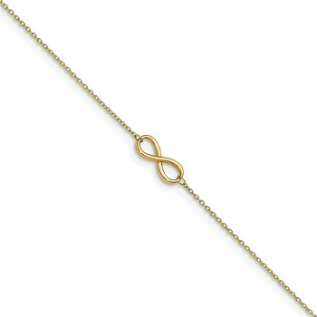 Leslie's 14K Polished Infinity with 1in ext. Anklet
