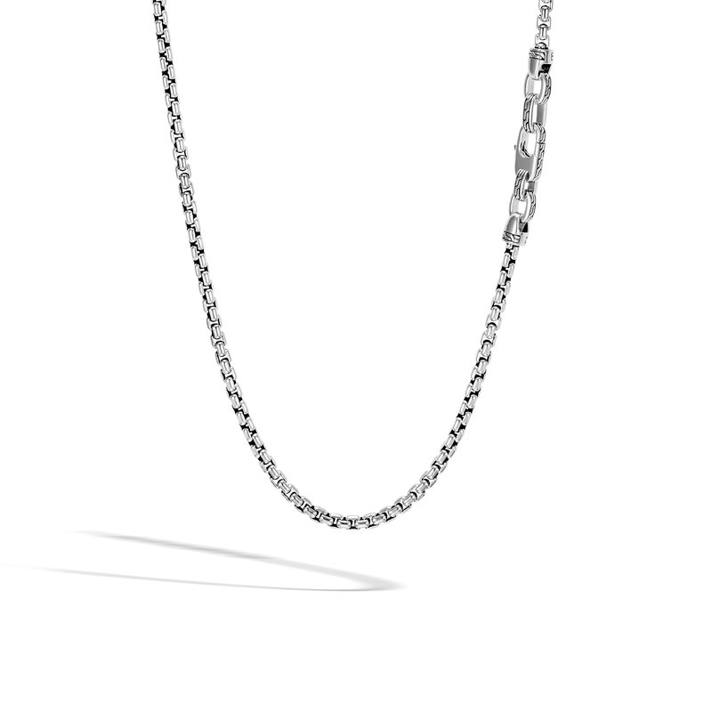 JOHN HARDY Classic Chain 4MM Box Chain Necklace in Silver