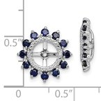 J.F. Kruse Signature Collection Sterling Silver Rhodium Diam. & Created Sapphire Earring Jacket