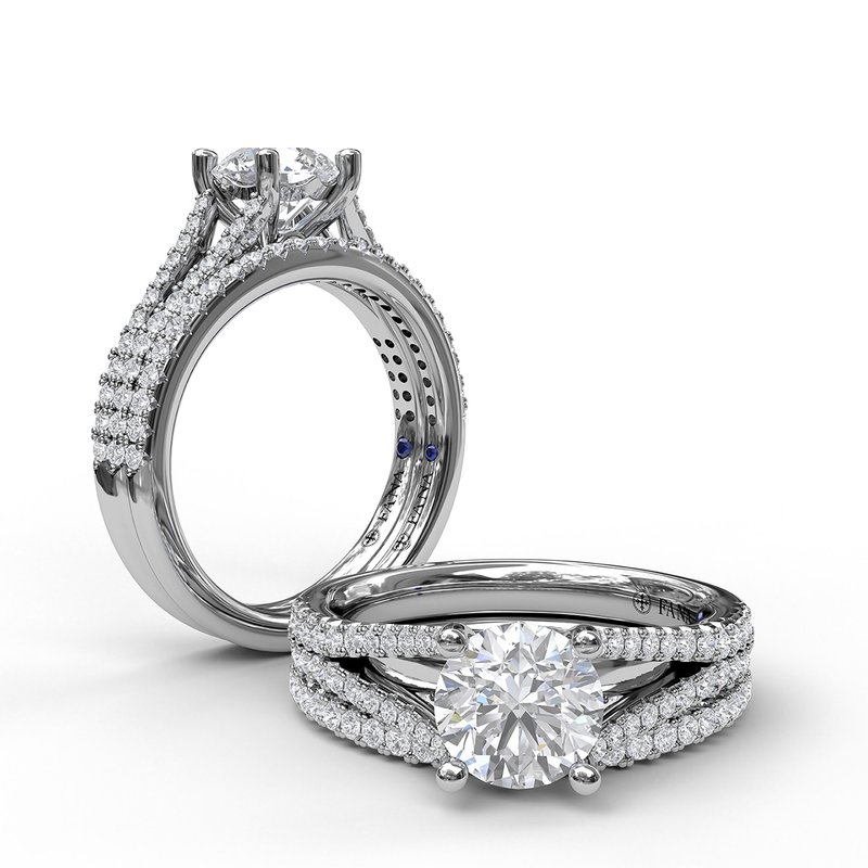 Fana Solitaire With Pave Band