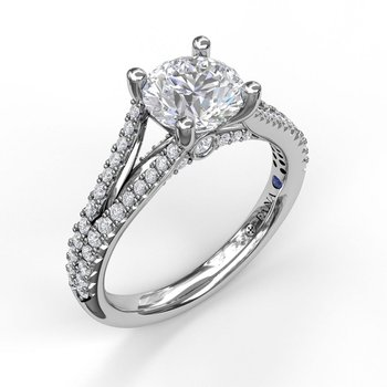 Solitaire With Pave Band