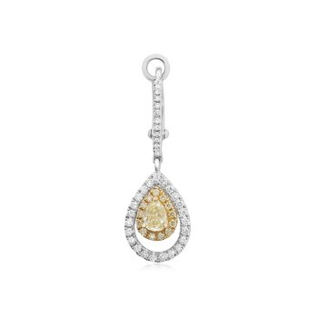 Floating Pear Diamond Earrings