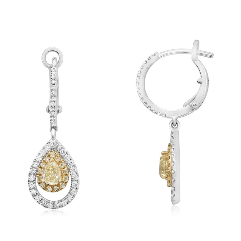 Roman & Jules Floating Pear Diamond Earrings