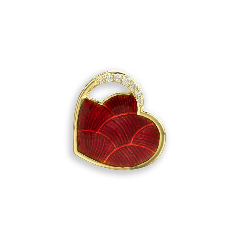 Nicole Barr Designs Red Heart Pendant.18K -Diamond