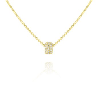 14k Gold and Diamond Rondell Necklace