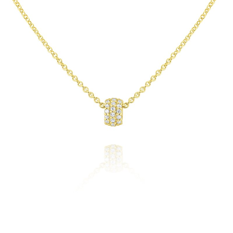 KC Designs 14k Gold and Diamond Rondell Necklace