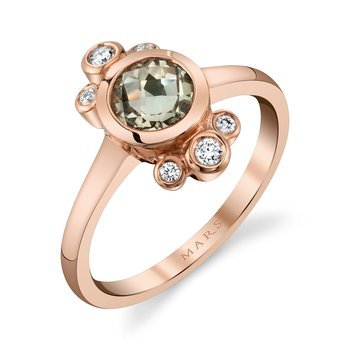 MARS 27258 Fashion Ring, 0.13 Dia. 0.77 Green Am.