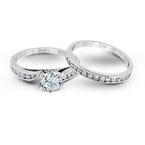 Zeghani ZR398 WEDDING SET