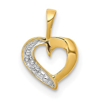 14k .01ct. Diamond Heart Pendant